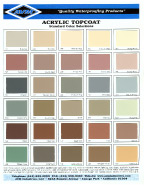 Color Charts Waterproofing Experts